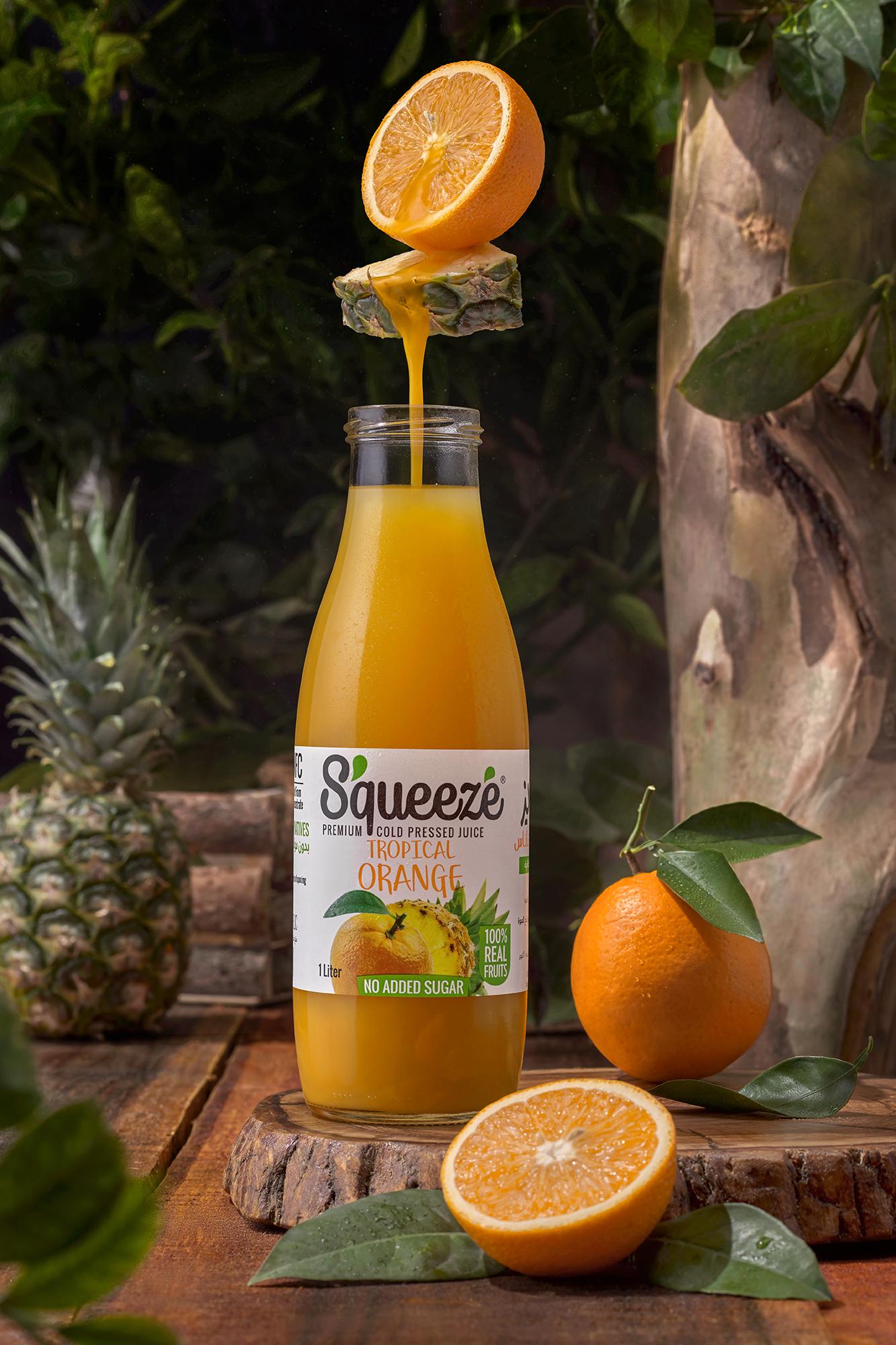 squeeze bottle tropical orange.