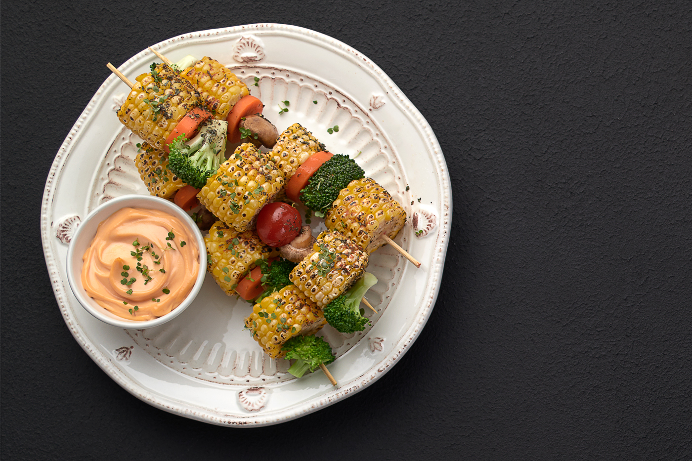 corn sticks, tomatoes, brockley