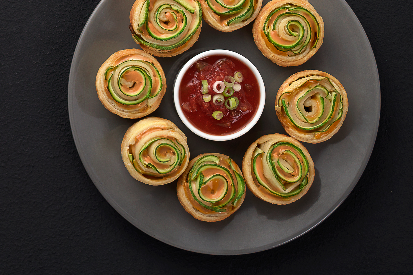 puff pastry, cheese, red sauce