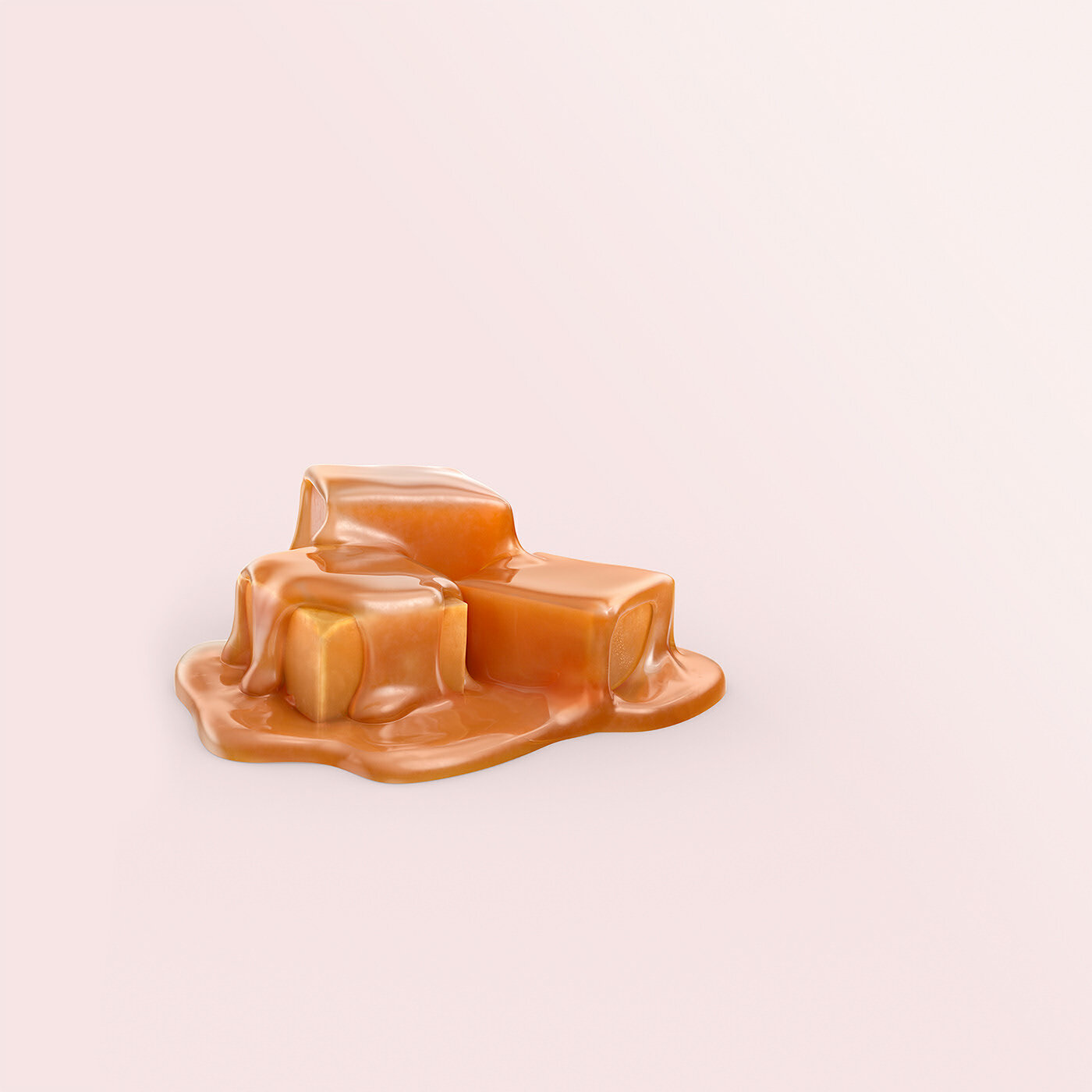 cgi caramel cubes done for nestle gold lid by mechanix studios